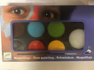 Bilde av Ansiktsmaling, palette med 6 klare farger